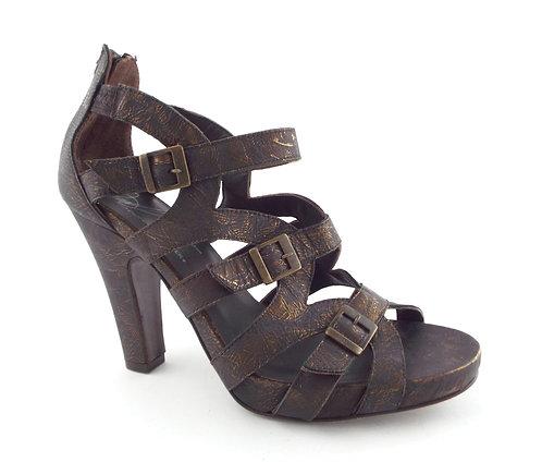 DONALD J PLINER Burnished Bronze Strappy Heel Sandal 7.5