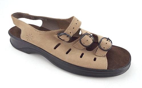CLARKS SPRINGER Beige Nubuck Walking Sandal 12 C