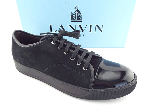 LANVIN Black Cap Toe Low Top Sneakers 12/11UK