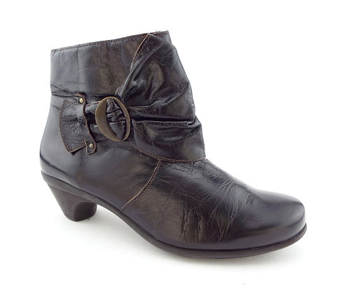NAOT Brown Ruffle Wrap & Buckle Ankle Boots 9