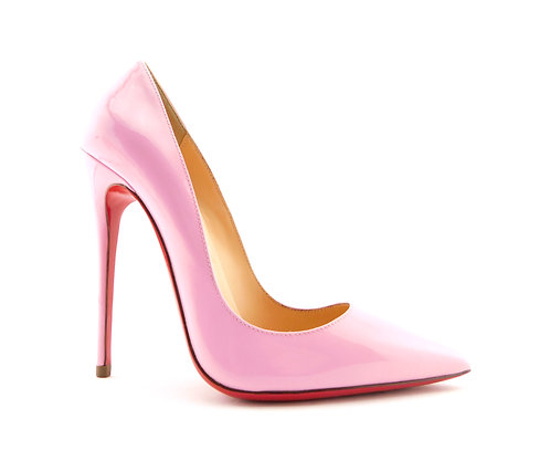 CHRISTIAN LOUBOUTIN Pink Patent So Kate Pumps 35