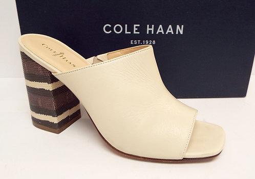 COLE HAAN LUCI Ivory Open Toe Slide Mule 7