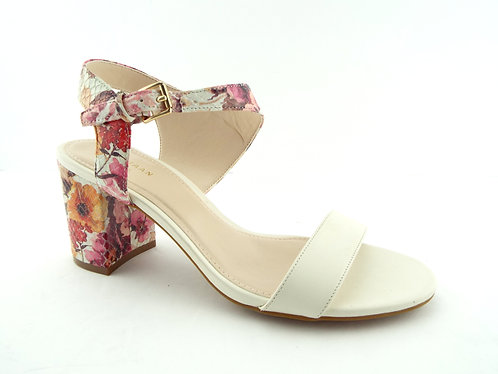 COLE HAAN Floral Ivory Ankle Strap Sandals 6.5