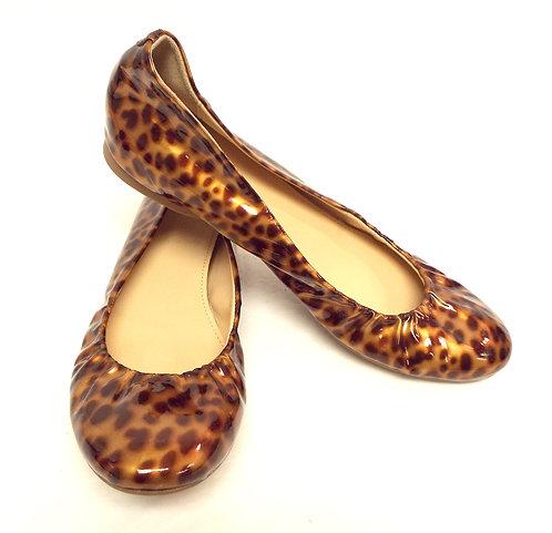 J. CREW Patent Leopard Ballet Flat