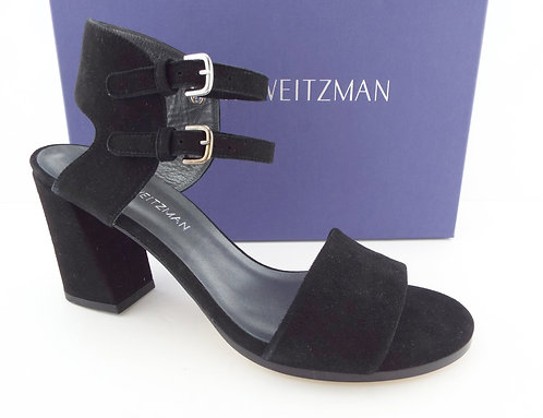 "STUART WEITZMAN ""Twoways"" Black Double Strap Sandals 9.5"