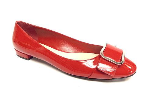 PRADA Red Patent Ballet Flat 39/8.5