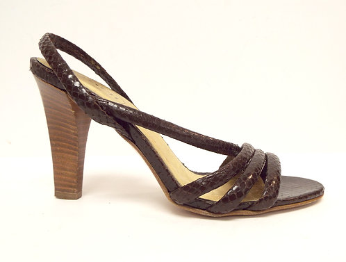 COACH Brown Snake Slingback Sandal 6