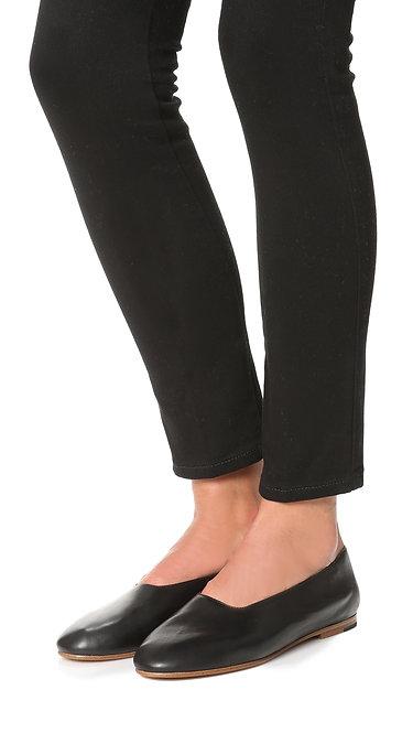 VINCE Black Soft Leather Slip-on Ballet Flats 9