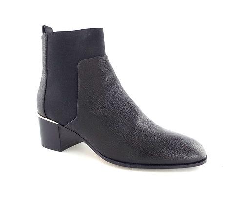 JIMMY CHOO Black Pebble Chelsea Pull On Ankle Boots 40