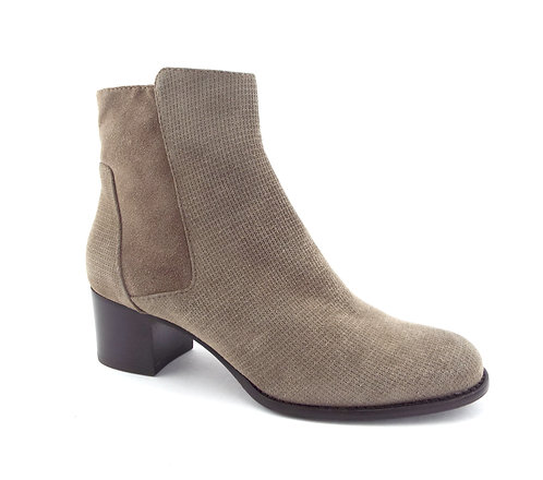 AQUATALIA Taupe Textured Suede booties 7.5