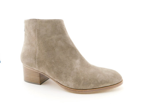 RAG & BONE Gray Suede Block Heel Wesley Booties 41