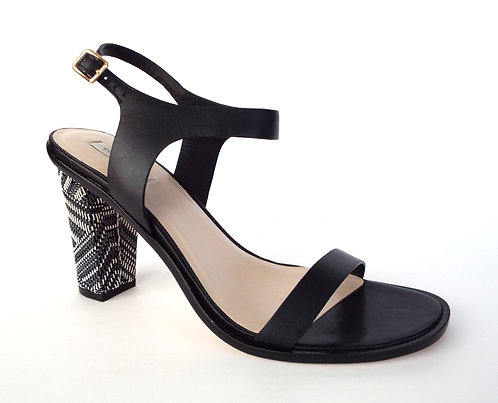 COLE HAAN CAMBON HIGH Black Ankle Strap Sandal 8.5