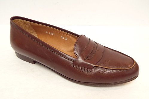 RALPH LAUREN Collection Brown Leather Penny Loafer