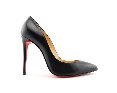 CHRISTIAN LOUBOUTIN Black Leather Pigalle Follies Pumps 37