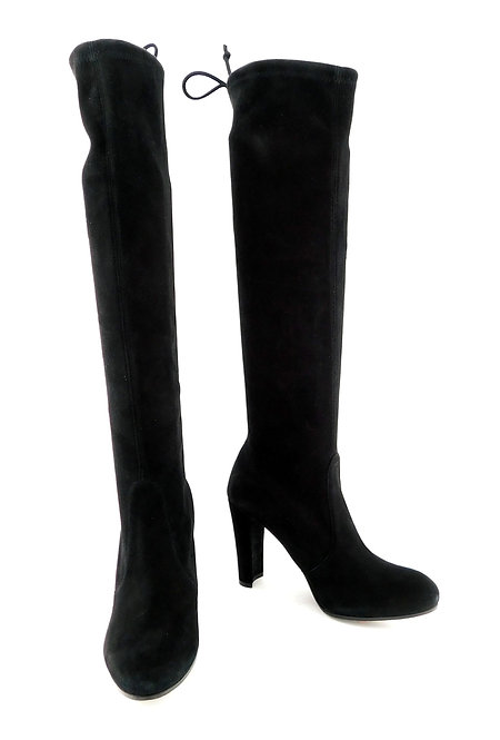 STUART WEITZMAN Black Suede Knee High Boot 5.5
