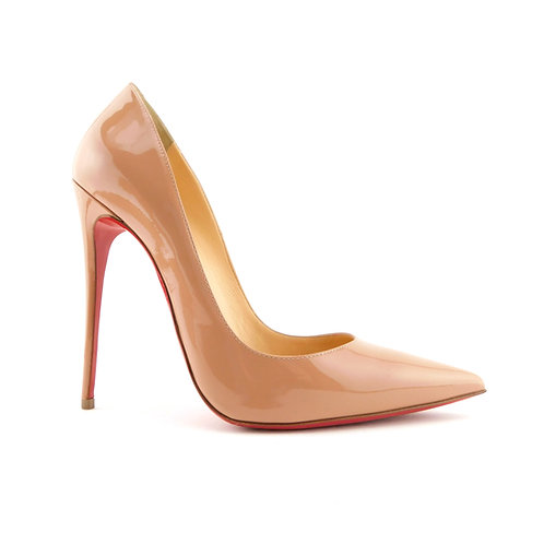 CHRISTIAN LOUBOUTIN Size 9 SO KATE Beige Patent Heels Pumps Shoes 40 Eur