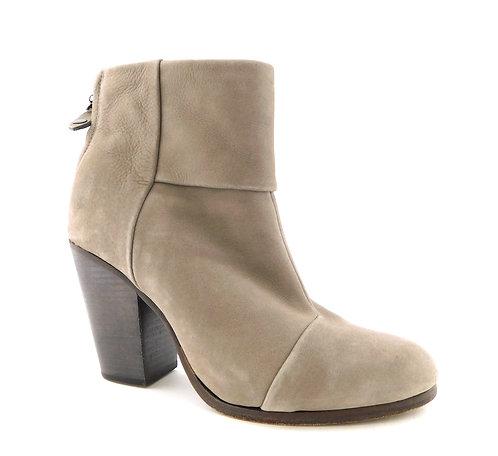 RAG&BONE Light Gray Leather Block Heel Boots 40