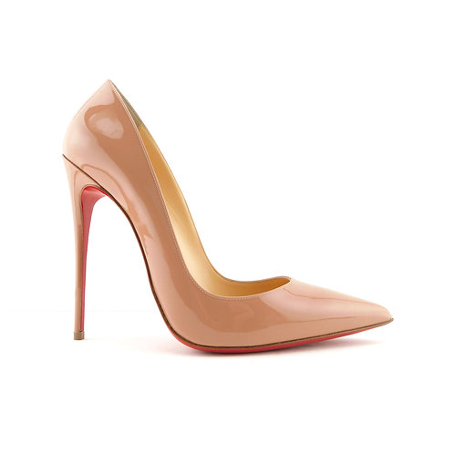 New CHRISTIAN LOUBOUTIN Size 9 SO KATE Beige Patent Heels Pumps Shoes 40 Eur