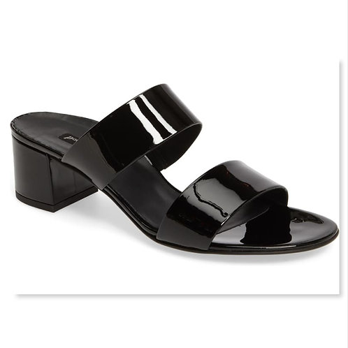 PAUL GREEN Black Patent Slide Sandal 6.5UK/9US