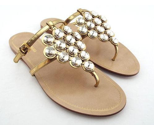 Miu Miu Crystal Embellished Sandals 36.5