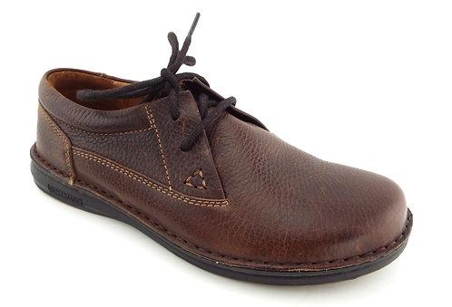 BIRKENSTOCK Brown Lace Up Walking Shoes 38