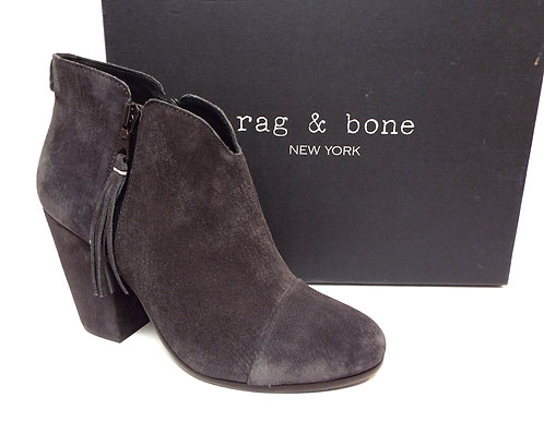 RAG & BONEFringe Gray Suede Ankle Boot 39