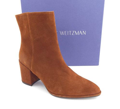 STUART WEITZMAN Amaretto Brown High Ankle Boots 6