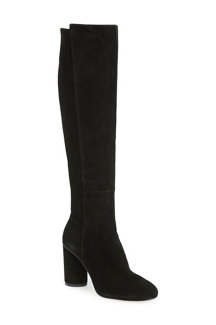 STUART WEITZMAN Black Suede Knee High Boots 8