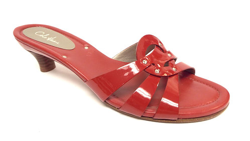 COLE HAAN Red Patent Slide Sandal 8.5