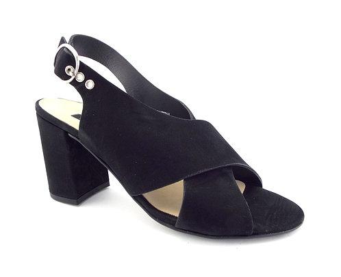 PAUL GREEN Black Cross Strap Sandals 5UK/7.5US