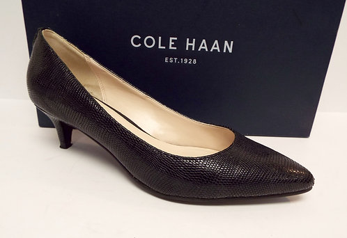 COLE HAAN Black Textured Leather Low Heel Pump 6.5