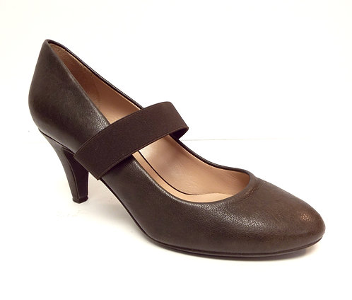 DKNY DONNA KARAN Brown Leather Mary Jane Pump 7