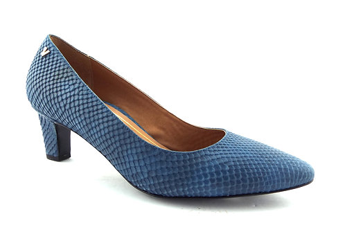 VIONIC Orthaheel Snake Blue Leather Pumps 9