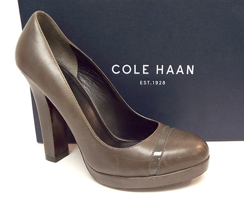 COLE HAAN Gray Platform Round Toe Pump