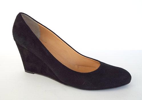 J. CREW Black Suede Wedge Heel 8.5