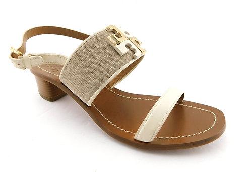 TORY BURCH Logo Block Heel Sling Sandals 9.5
