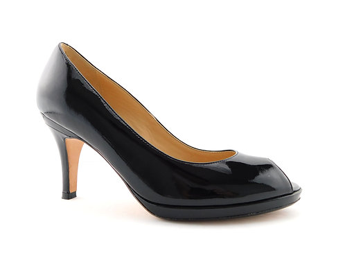 COLE HAAN Nike Air Black Patent Open Toe Pumps 7.5