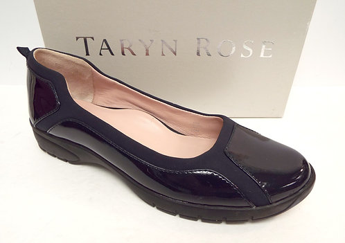 TARYN ROSE ADIN Navy Blue Patent Ballet Flat