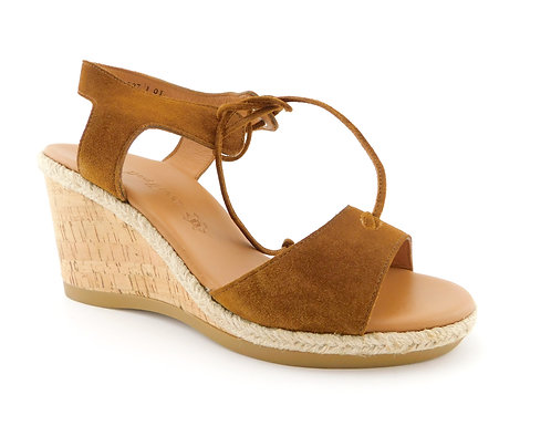 PAUL GREEN Cognac Wedge Sandals 7.5UK / 10US