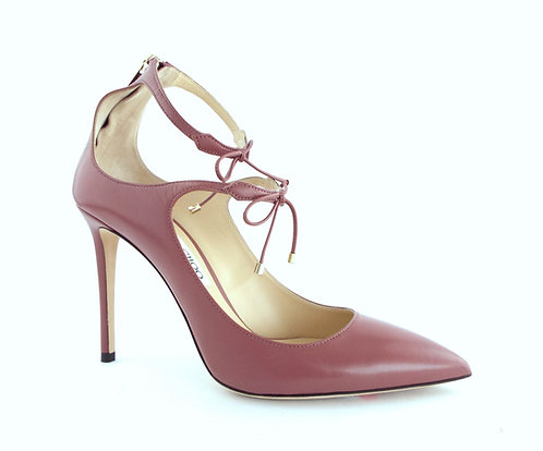 JIMMY CHOO Vintage Rose Tie Front Heels Pumps 39