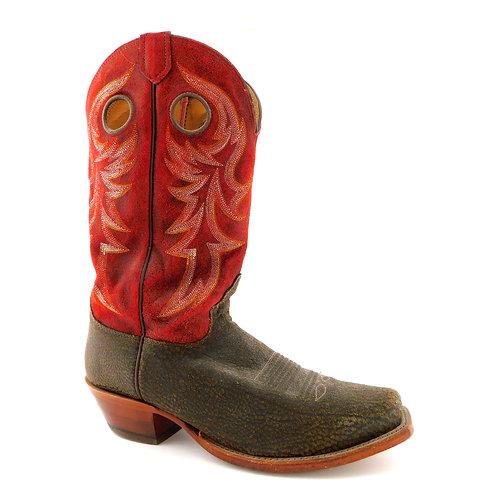 NOCONA Red & Brown Western Cowboy Boots 9.5