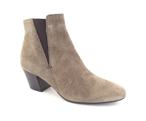 AQUATALIA Taupe Textured Suede Ankle Boots 6