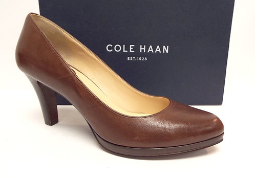 COLE HAAN Nike Air Brown Almond Toe Pump  9