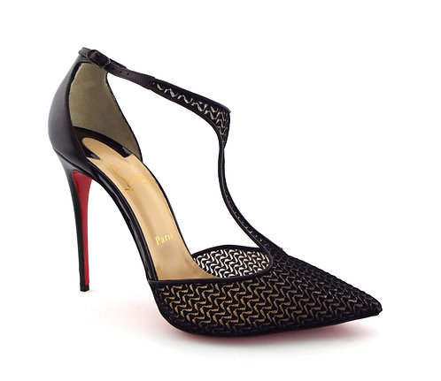 Christian Louboutin Black T Strap Heels Pumps 40.5