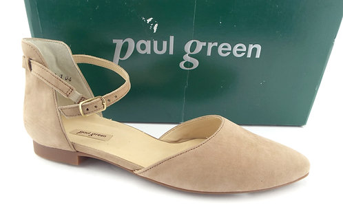 PAUL GREEN Sisal Nubuck Leather Flat US8/UK5.5
