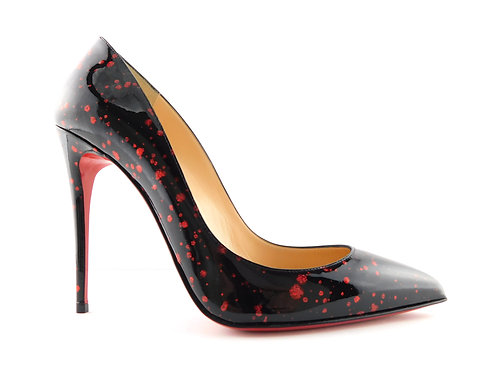 CHRISTIAN LOUBOUTIN Black Patent Red Hint Pumps 39
