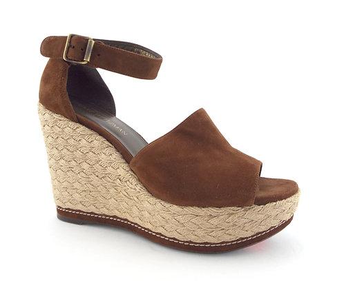 Stuart Weitzman Suede Espadrille Sandals 10.5