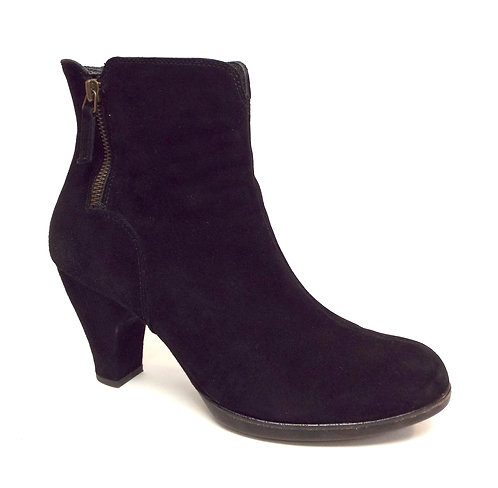 PAUL GREEN Black Suede Double Zip Ankle Boot 9