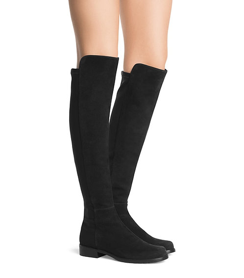 STUART WEITZMAN 5050 Black Suede Knee High Boots 9