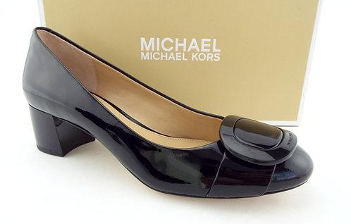 MICHAEL KORS Black Logo Buckle Pumps 7.5